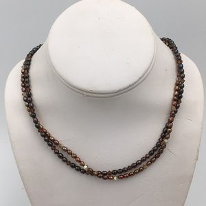 Jewelry - Genuine Freshwater Double Layers Pearls Necklace